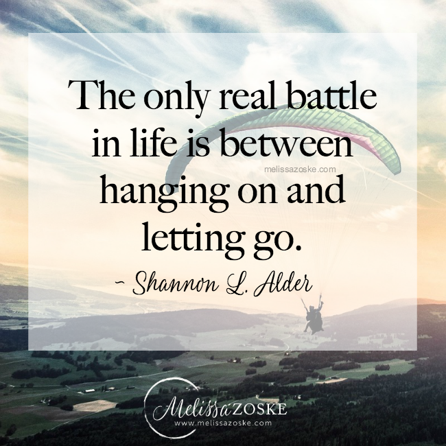 Let go of attachments to manifest more.